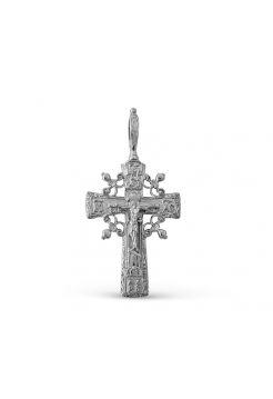 """Крест """"Распятие Христово"""" с молитвой серебряный"""