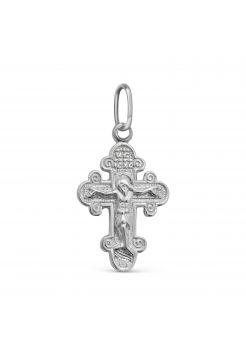 """Православный нательный крест """"Распятие Христово"""" с молитвой"""