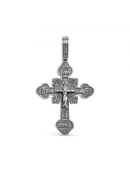 """Нательный крест """"Распятие Христово"""" из серебра"""
