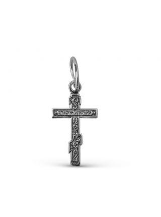 """Крестик """"Распятие Христово"""" с молитвой из серебра"""