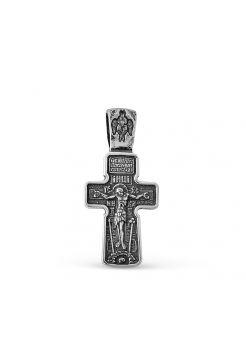 """Крест """"Распятие Христово. Архангел Михаил. Святая Троица"""" (арт. 3-266 ч)"""