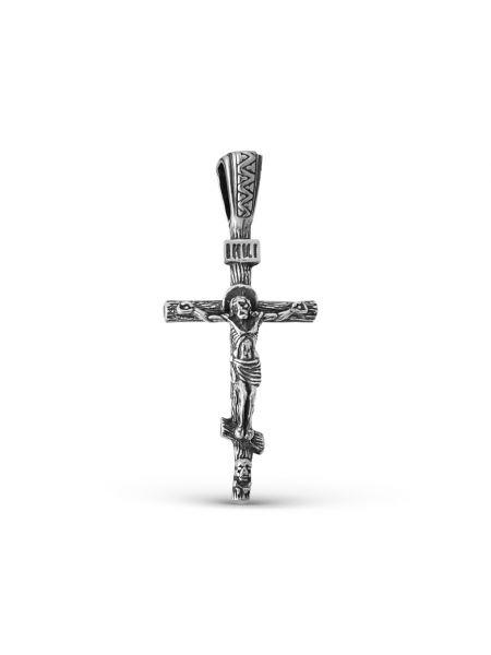 """Крест """"Распятие Христово"""" с молитвой из серебра"""