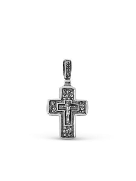 """Крест """"Распятие Христово. Николай Чудотворец"""" православный"""