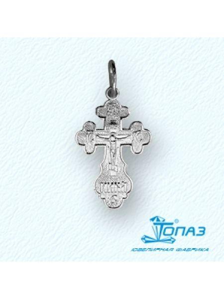 """Серебряный крестик """"Распятие Христово"""" с молитвой"""