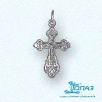 """Детский нательный крестик """"Распятие Христово"""" из серебра с молитвой"""