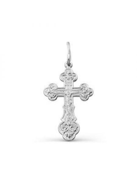 """Крестик """"Распятие Христово"""" серебряный"""
