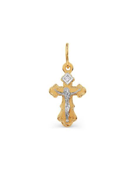 """Крест """"Распятие Христово"""" с фианитами"""