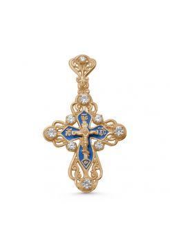 """Позолоченный крест """"Распятие Христово"""" с молитвой"""