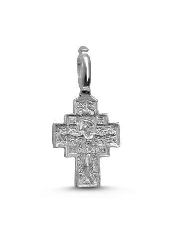 """Нательный крест """"Распятие Христово и Святая Матрона """" с молитвой (арт. 3-171)"""