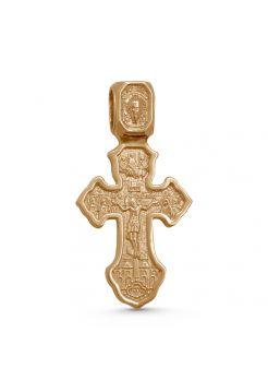 """Позолоченный нательный крест """"Спаситель и Господь Вседержитель, Ангел Хранитель"""" с молитвой"""