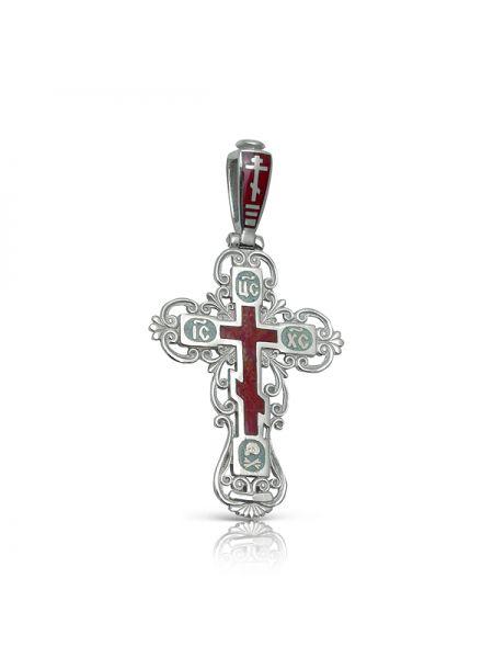 """Нательный крест с молитвой """"Спаси и сохрани"""" серебряный"""