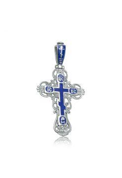 """Нательный крест с молитвой """"Спаси и сохрани"""" из серебра"""