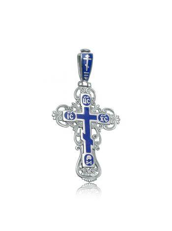 """Фото - Нательный крест с молитвой """"Спаси и сохрани"""" из серебра"""