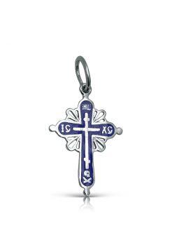 """Нательный крест с молитвой """"Спаси и сохрани"""" с эмалью"""