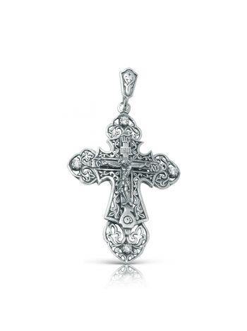 Фото - Нательный крест с Распятием и Ангелом Хранителем с фианитом