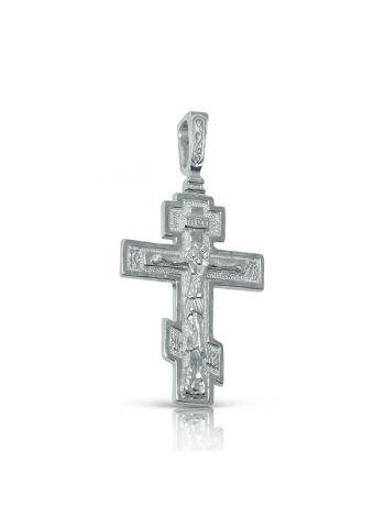 Фото - Нательный крест православный с Распятием и молитвой