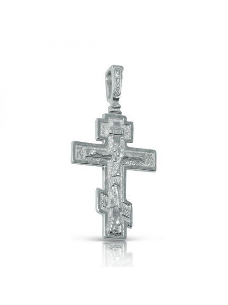 Нательный крест православный с Распятием и молитвой