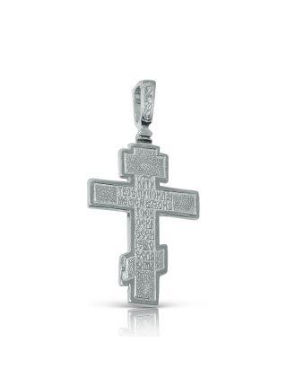 Нательный крест с Распятием и молитвой (арт.3-001)