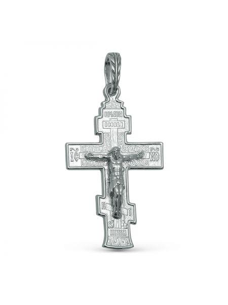 """Нательный крест из серебра """"Распятие Христово"""" с молитвой"""