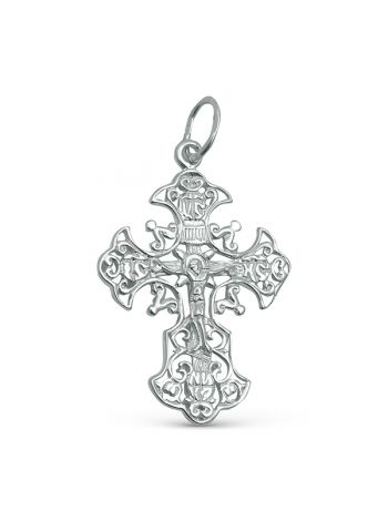 """Фото - Нательный крест """"Распятие Христово"""" с молитвой"""