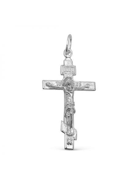 Нательный крест с Распятием и молитвой «Спаси и сохрани» серебряный