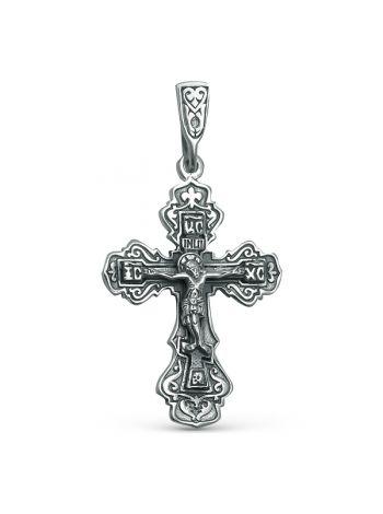 """Нательный крест """"Распятие Христово"""" с молитвой (арт. 77610075000)"""