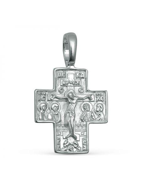 """Нательный крест """"Распятие Христово. Георгий Победоносец"""" серебряный"""