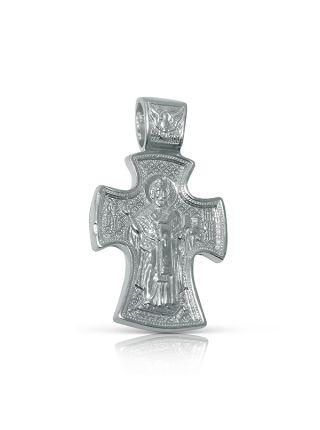 Нательный крест с Распятием и образом Св. Николая Чудотворца (арт. 3-268)
