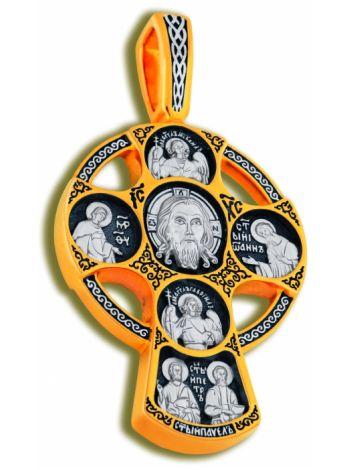Фото - Нательный крест «Спас Нерукотворный с избранными святыми»