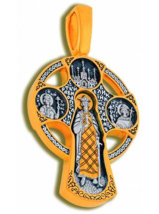 Нательный крест «Спас Нерукотворный с избранными святыми»