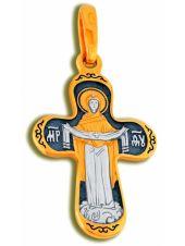 Нательный крест с образом «Покрова Пресвятой Богородицы» малый (арт. КСЧЗ 2407)