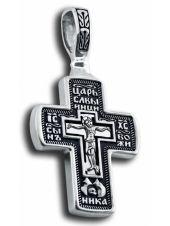 Нательный крест с Распятием и образом Николая Чудотворца (арт. КСЧ 3519)