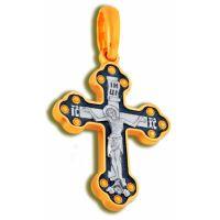Нательный крест «Распятие Христово» с молитвой позолоченный