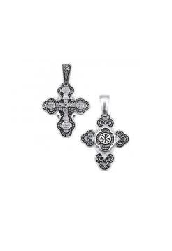 Нательный крест с Распятием и молитвой «Спаси и сохрани» (арт. КС276)