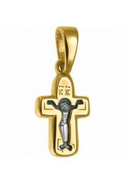 Нательный крест с образом Покрова Божией Матери