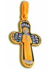 Нательный крест «Святая Матрона Московская» средний (арт. КСЧЗ 3106)
