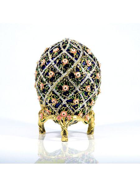 """Пасхальное яйцо-сувенир """"Розы"""" (арт. ЕВС 07-12)"""
