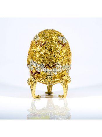 """Пасхальное яйцо-сувенир """"Клевер"""" Фаберже (арт. ЕВС 07-33)"""