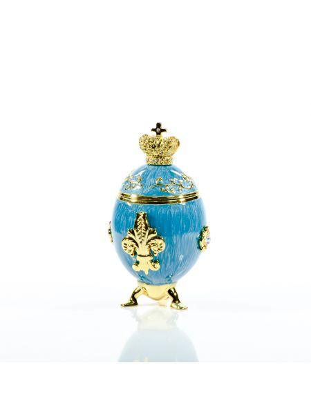 """Пасхальное яйцо """"Венец"""" малое Фаберже (арт. ЕС 04-77 BL)"""