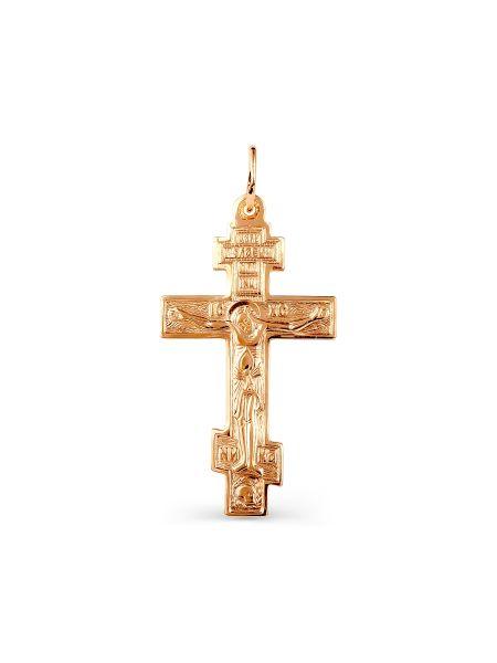 """Золотой нательный крестик """"Распятие Христово"""""""