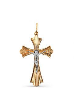 """Православный крест """"Распятие Христово"""" из золота"""