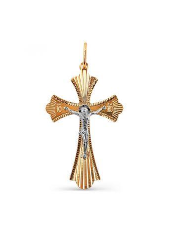 """Фото - Православный крест """"Распятие Христово"""" из золота"""