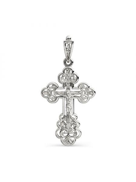 """Нательный крест """"Распятие Христово"""" из белого золота"""