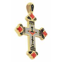 Крест нательный православный из золота