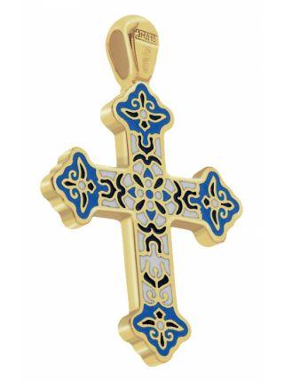 Крестик нательный золотой