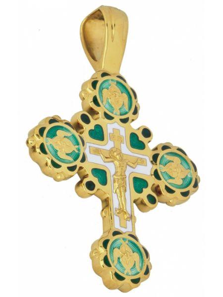 Крест Распятие Господа нашего Иисуса Христа золотой