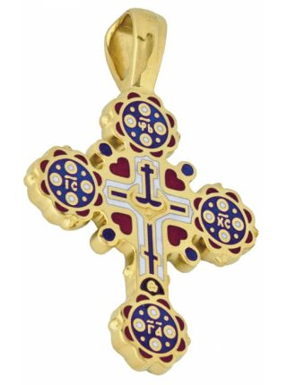 Крестик золотой Распятие Господа нашего Иисуса Христа