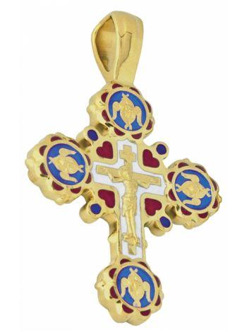 Фото - Крестик золотой Распятие Господа нашего Иисуса Христа