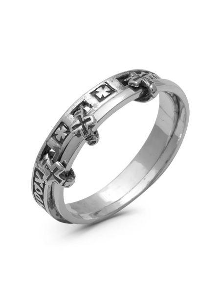 Двойное кольцо с молитвой «Спаси и сохрани» (арт. 1-099 ч)