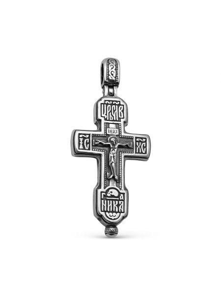 """Крест мощевик """"Распятие Христово"""" с молитвой (арт. М-038 ч)"""